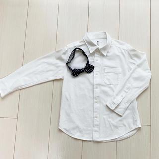 ユニクロ(UNIQLO)のRu-様 専用 UNIQLOシャツ、HARE蝶タイ(ドレス/フォーマル)