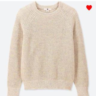 【新品】ユニクロ KIDS ワッフルクルーネックセーター