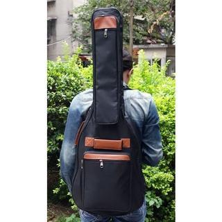 【お買い得!】エレキギターソフトケース2wayリュックタイプポケット楽譜収納防水(ケース)