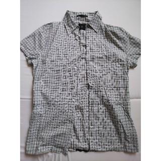 アトウ(ato)のato 半袖 ラメ入り 比翼 チェックシャツ(シャツ)