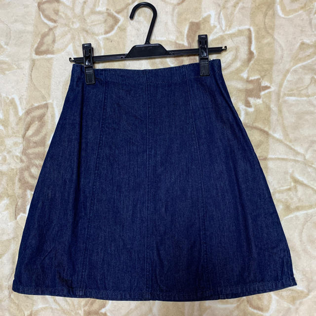 MERCURYDUO(マーキュリーデュオ)の☆MERCURYDUO☆デニム台形スカート ネイビー レディースのスカート(ミニスカート)の商品写真