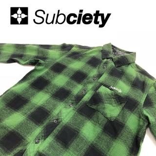 サブサエティ(Subciety)のサブサエティ《Subciety》ネルシャツ 長袖 L(シャツ)