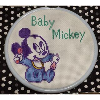 ディズニー(Disney)の【値下げ】ディズニー ベビーミッキー オリムパス刺しゅうキット完成品(その他)