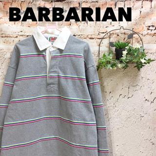 バーバリアン(Barbarian)のカナダ製 バーバリアン ラガーシャツ 長袖トップス 厚手 プルオーバー(ポロシャツ)