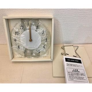 アフタヌーンティー(AfternoonTea)のAfternoon tea ガラス置き時計(置時計)
