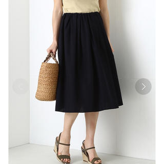デミルクスビームス(Demi-Luxe BEAMS)の美品 デミルクスビームス   コットン タックスカート(ひざ丈スカート)