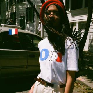 カンナビス レディース(CANNABIS LADIES)の新品 ルコルドファム Oui フランスカラーTシャツ(Tシャツ(半袖/袖なし))