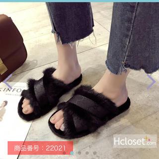 ディーホリック(dholic)のファー靴(スリッポン/モカシン)