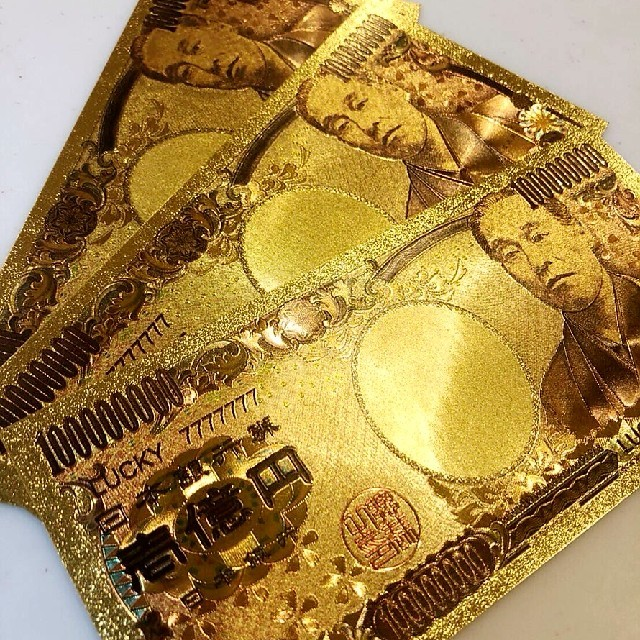 b iphone 7 ケース  手帳型 | 限定特価!2枚set★純金24k★最高品質★一億円札★ブランド財布、バッグなどにの通販 by 金運's shop|ラクマ