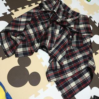 アフリカタロウ(AFRICATARO)のアフリカタロウ 腰巻き風チェックスカート(ひざ丈スカート)