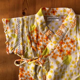 アンパサンド(ampersand)の甚平 オレンジ 花柄(甚平/浴衣)