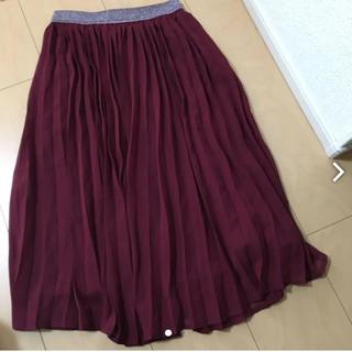 ジーユー(GU)の美品GU ガールズプリーツスカート(スカート)