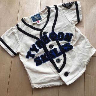 スーパーブーホームズ(SUPER BOO HOMES)のused♪BOOHOMESカルフォルニア野球デザイン羽織もの♪80cm(カーディガン/ボレロ)