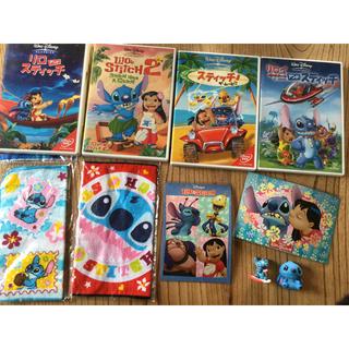 リロ&スティッチ - リロ&スティッチDVD4枚セット ミニタオルフィギュアポストカード ディズニー