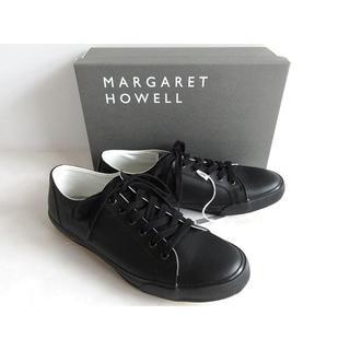 マーガレットハウエル(MARGARET HOWELL)の新品箱付 マーガレットハウエル スピングルムーブ レザースニーカー 24.5cm(スニーカー)