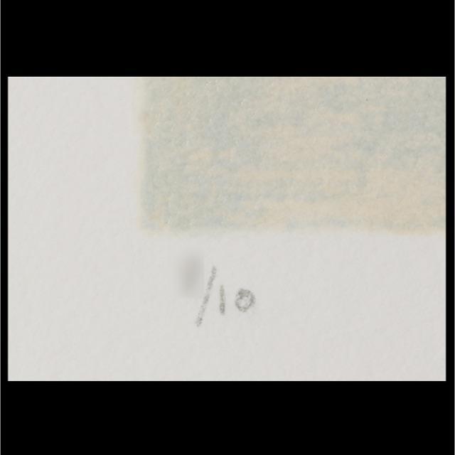 ベルナール カトラン ・直筆サイン入り カラーリトグラフ エンタメ/ホビーの美術品/アンティーク(版画)の商品写真