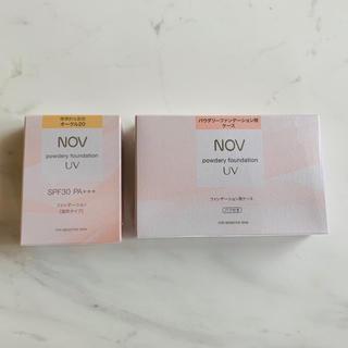 ノブ(NOV)の【新品】ノブ パウダリーファンデーション&ケース(ファンデーション)