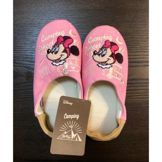 ディズニー(Disney)の♡新品未使用♡ミニー♡スリッパ♡M♡22〜24cm♡(スリッパ/ルームシューズ)