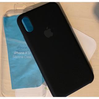 アイフォーン(iPhone)のiPhone xs 用 純正ケース シリコンケース 黒 ブラック(iPhoneケース)