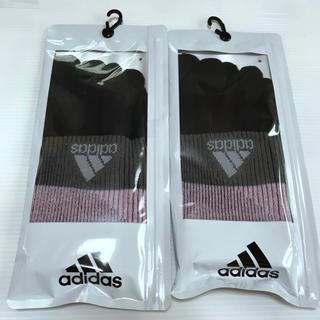 アディダス(adidas)のレディース【アディダス×福助】五本指ソックス オールサポート  2足セット(ウォーキング)