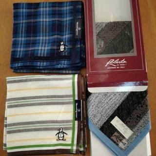 マンシングウェア(Munsingwear)の紳士ハンカチ3枚  新品未使用(ハンカチ/ポケットチーフ)