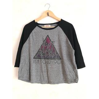 ダブルネーム(DOUBLE NAME)のDOUBLE NAME 7分袖 プリントTシャツ(Tシャツ(長袖/七分))
