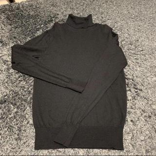 ムジルシリョウヒン(MUJI (無印良品))の無印良品 タートルネック ニット ブラック(ニット/セーター)