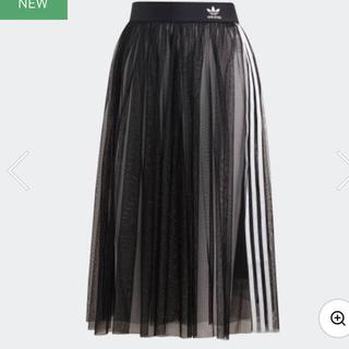 アディダス(adidas)の新品★アディダス★メッシュスカート★ブラック★M(ロングスカート)