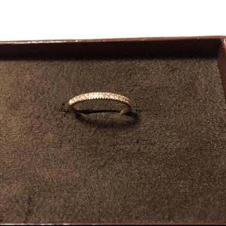 アガット(agete)の極美品!アガットベルシオラk18PGダイヤモンドリング(リング(指輪))
