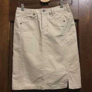 タスタス(tasse tasse)のタスタス tassetasse スカート 膝丈 ベージュ 2(ひざ丈スカート)