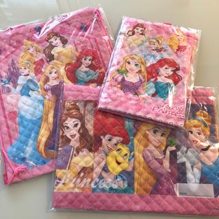 ディズニー(Disney)の新品☆ディズニープリンセス入園3点セット(レッスンバッグ)