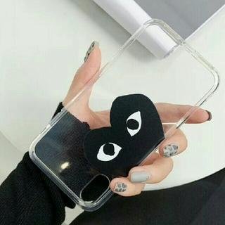 iPhone8 ケース コムデギャルソン プレイ  クリア黒③