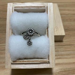 【廃盤】かすう工房 揺菊指輪 17号 シルバーリング(リング(指輪))