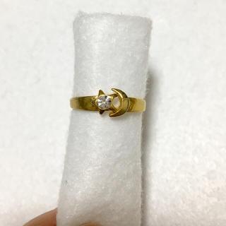 指輪 リング ゴールドカラー  星と月(リング(指輪))