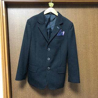 ヒロミチナカノ(HIROMICHI NAKANO)の男の子 スーツ 黒、パープル ヒロミチナカノボーイズ(ドレス/フォーマル)