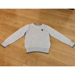 H&M - 美品☆ H&M ニット セーター グレー 6-8歳 122〜128cm 男の子