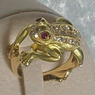 K18 ルビー ダイヤモンド リング  ☆71(リング(指輪))