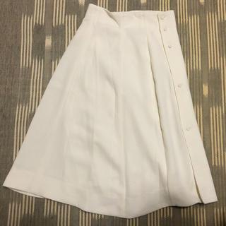ハナエモリ(HANAE MORI)のkenta matsushige 白スカート(ひざ丈スカート)