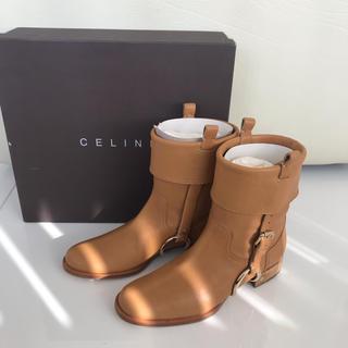 セリーヌ(celine)の未使用 自宅保管品 セリーヌ レザーブーツ ブラウン 36 23くらいの方に❤️(ブーツ)