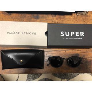 スーパー(SUPER)の【新品未使用】SUPER スーパー サングラス Black Matte(サングラス/メガネ)