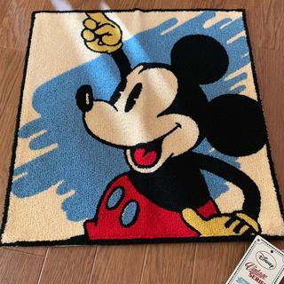 ディズニー(Disney)のミッキー クッションカバー 水色(クッションカバー)