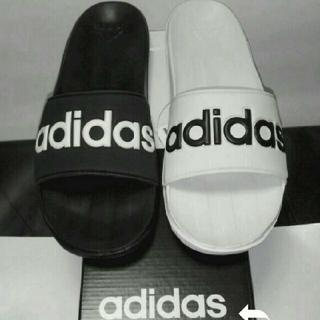 アディダス(adidas)の新品 送料無料 アディダス サンダル カロズーン 26.5センチ ミスマッチ白黒(サンダル)