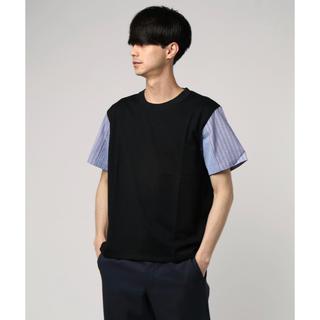 ディスカバード(DISCOVERED)のDISCOVERED 18SS ストライプ生地 切り替え Tシャツ 1(Tシャツ/カットソー(半袖/袖なし))