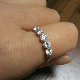お値下げDカラー計1*124カラットダイヤリング(リング(指輪))