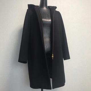 ドアーズ(DOORS / URBAN RESEARCH)のドアーズ 黒 コート フード付き (ロングコート)