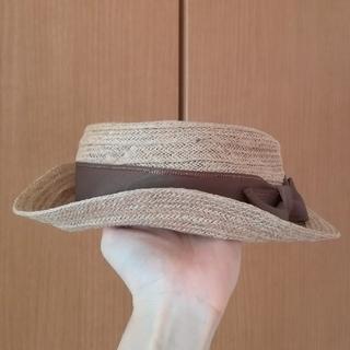 シマムラ(しまむら)の麻100%のカンカン帽(麦わら帽子/ストローハット)