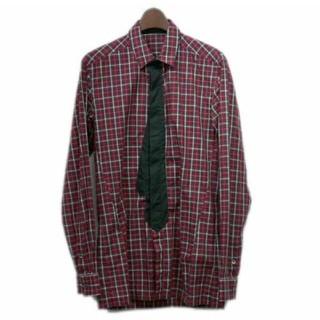 クリスヴァンアッシュ(KRIS VAN ASSCHE)のクリスヴァンアッシュ フェイクタイレッドチェックシャツ(シャツ)
