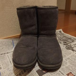 エミュー(EMU)のEМUAustralia☆シープムートンブーツ グレー☆24㎝(ブーツ)