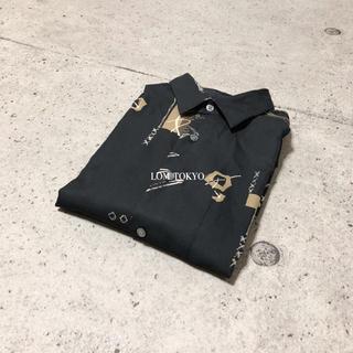 [used]black art design shirt.(シャツ)