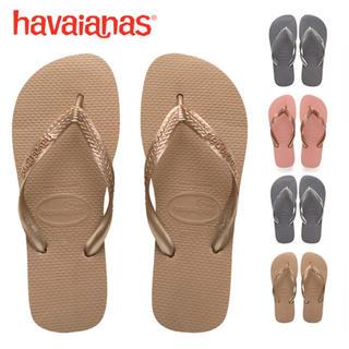 ハワイアナス(havaianas)の【新品】havaianas ローズゴールド(サンダル)